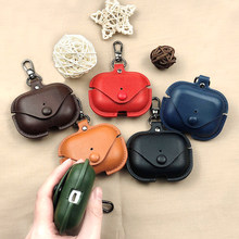 Luxury Leather Earphone Bag For Apple AirPods Pro Bluetooth Wireless Earphone Cover For AirPods Pro Charging Box Funda Cover(China)