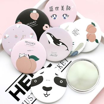 1pc Makeup Mirror Portable Hand Mini Make Up Travel Round Pocket Cosmetic Beauty Tools Accessories