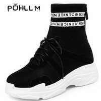 Zapatos de plataforma transpirables de otoño PUHLLM cómodos suelas de poliuretano antideslizantes zapatos planos de moda B55