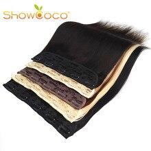 ShowCoco extension de cheveux humains monobloc, pinces à cheveux droites 80G 120G 160G, cheveux naturels Remy fabriqués à la Machine, 5 pinces pour femmes