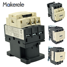 LC1D Series 110v 220v 380v AC Contactor 9A/25A/40A/80A 3P+NO+NC 3 Phase 3 Pole Mount Contactor Industrial Electric Contactor