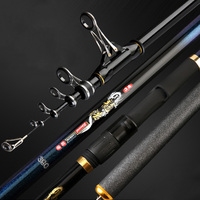 Hight Carbon Distance Throwing Rod 2.7 4.8M Powerful Telescopic Spinning Fishing Rod Collapsible Line Ring Carp Feeder Rod