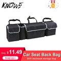 Автомобильный органайзер для багажника  сумка для хранения на заднем сидении  сетчатая вместительная многофункциональная оксфордская зад...