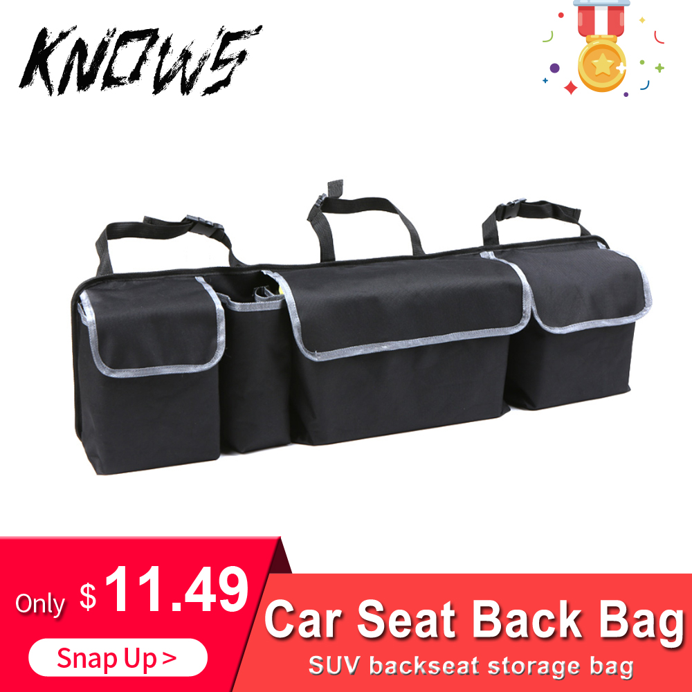 Car Organizer Trunk Backseat Storage Bag Net High Capacity Multi-use Oxford Back Interior Accessories Automobile Seat for boat