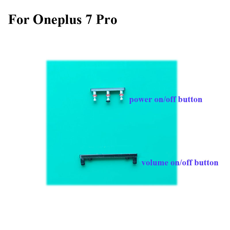 Side Button For Oneplus 7 Pro Power On Off Button + Volume Button Side Buttons Set Replacement For One plus 7pro Oneplus7 Pro