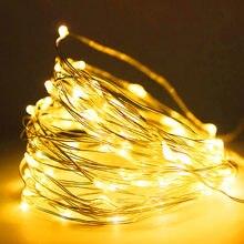 2M 5M 10M Led Light Strip Light String filo di rame 3AA batteria luce di natale per ghirlanda Holiday Fairy Wedding Party Decor nuovo