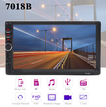 Carsanbo 2 Din 7 Inch Mirror Link Car Radio Bluetooth MP5 Video Player USB TF Touch Screen Autoradio Car Backup Monitor image