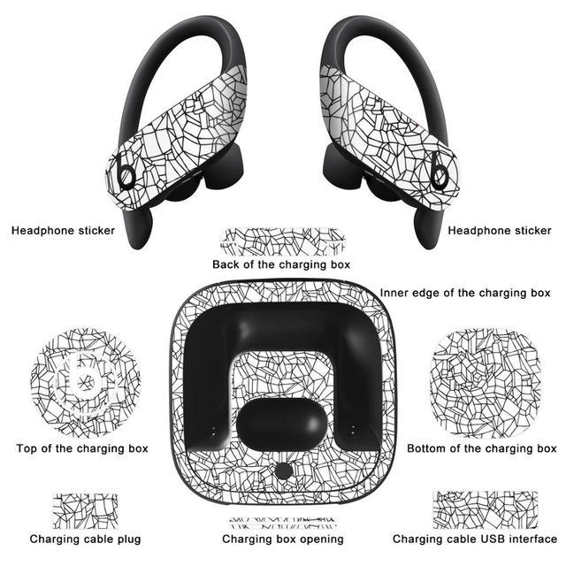 YCSTICKER Più Nuovo Bluetooth Cuffia Sticker Per Batte Powerbeats Pro a prova di Polvere Protettiva e Decorativa del Trasduttore Auricolare Della Copertura Della Pellicola