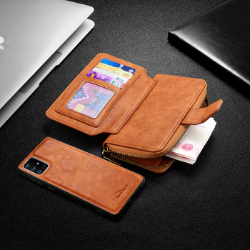 Leather Wallet Case For Xiaomi Redmi Note 9s 9 8T 8 8A 7A K20 MI Note 10 9T Magnetic Detachable Zipper Flip Case Card Slots Hold Accessories Phone Covers
