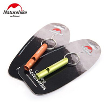 Naturehike Multifunction Survival Tools Rescue Metal Whistle Short Size Outdoor Emergency Metal Whistle With Key Ring Buckle