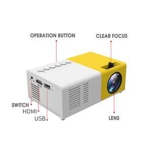 Image 2 - Taşınabilir J9 YG 300 Mini projektör 1080P desteği 1080P AV USB SD kart USB Mini ev projektör Mini cep beamer