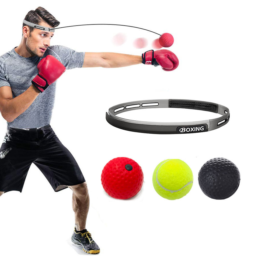 Pro Boxing Fight Ball with Head Band Speed Training Reflex Reaction Gym Exercise