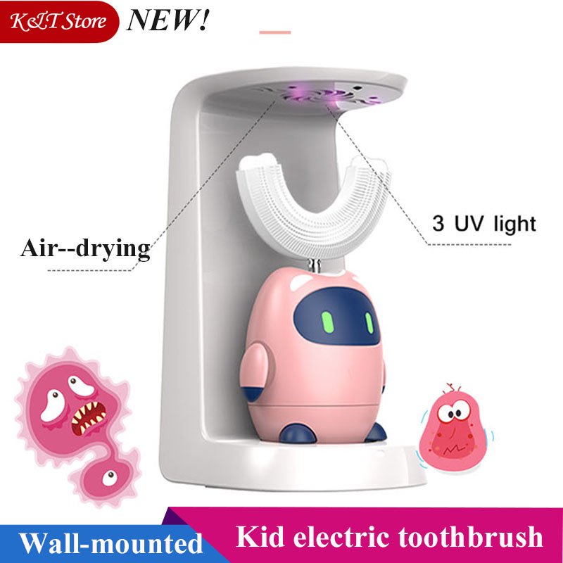 Smart sonic electric toothbrush for kids wall-mounted rechargeable children waterproof tooth brush automatic soft electric brush image