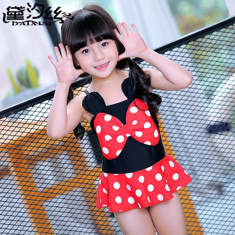 Place Of Origin Supply Of Goods Hot Springs New Style Korean-style Children 2017 Dai Xi Si GIRL'S Swimsuit 5088 6032