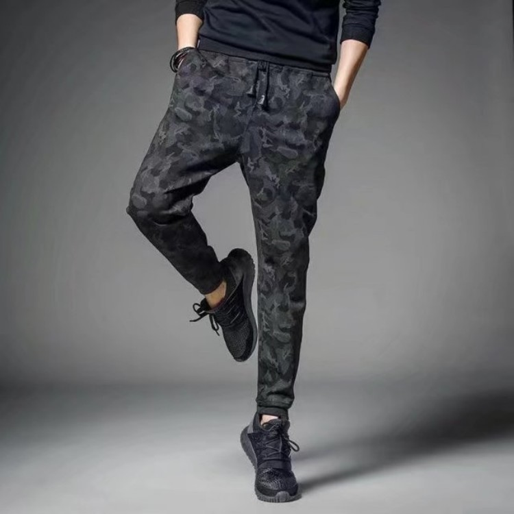 Men's Trousers Autumn New Style Men Slim Fit Casual Pants Skinny Harem Pants Loose-Fit Ankle Banded Pants Sweatpants Korean-styl