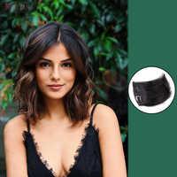 HOUYAN модные 3 цвета накладки для волос из натуральных волос Длинные прямые зажимы для наращивания волос в черном и коричневом цветах