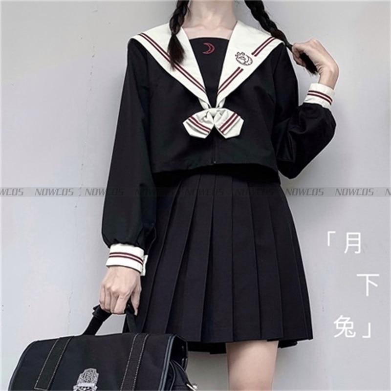 [Rabbit Under The Moon] Japanese Original School Uniform Sweet College Short-sleeve Genuine JK Uniform Suit Summer Pleated Skirt