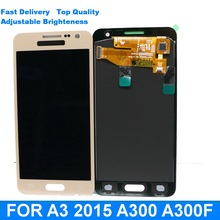 100% Tested For Samsung Galaxy A3 2015 A300 A3000 A300F A300M LCD  Display Touch Screen Digitizer Replacement+adjust brightness