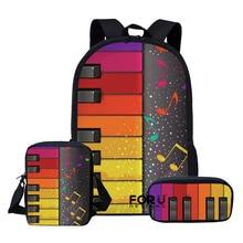 2020 Children School Bags Set for Teen Boys Girls Music Note Piano Print Backpack Book Bag Kids Shoulder Bag mochila escolar