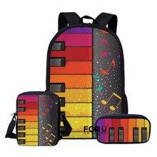 2020 Children School Bags Set for Teen Boys Girls Music Note