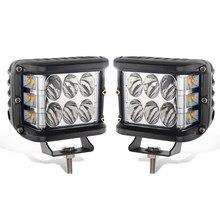 ECAHAYAKU – lampe de travail à double LED, 60W, stroboscope jaune pour voitures, camions tout-terrain, tracteur SUV, bateau ATV 4x4 12V, 2 pièces