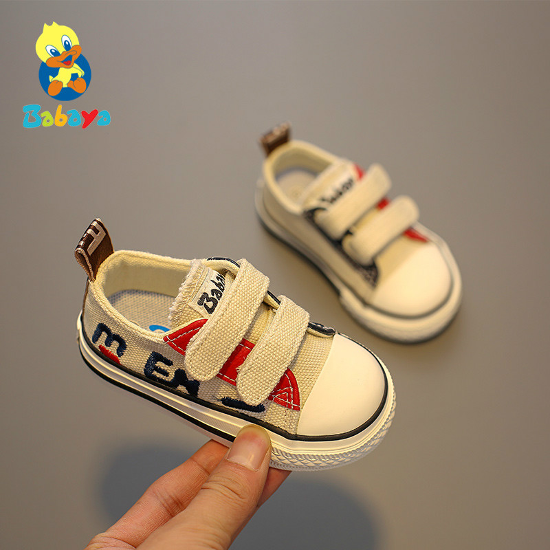 Canvas Shoes Soft Girls Breathable Boys Children for 1-2-3-Years-Old Kids