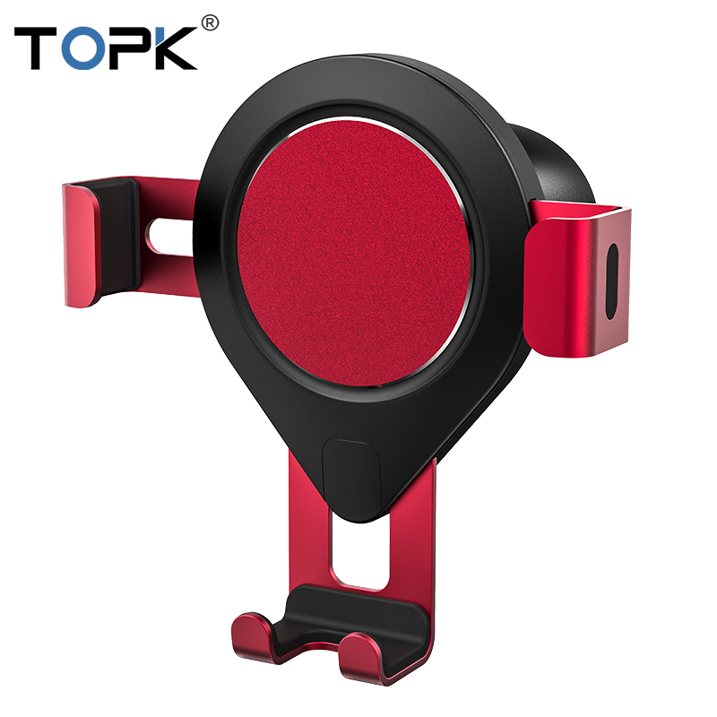 TOPK D17 Car Phone Holder Gravity Air Vent Mount Mobile Phone Holder Stand For IPhone Samsung Xiaomi Huawei Universal