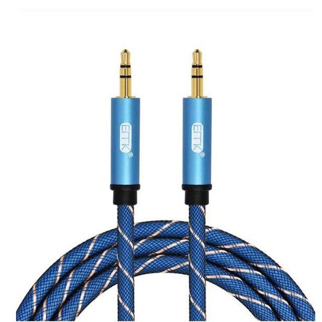 EMK AUX кабель 3,5 мм вспомогательный аудио кабель Разъем для мужчин и мужчин удлинитель для наушников AUX шнур для автомобиля/дома стерео, динами...