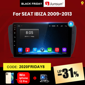 Junsun V1 2G+32G Android 10.0 Car Radio Multimedia Video Player For Seat Ibiza 6j 2009-2013 Navigation GPS 2din autoradio NO dvd