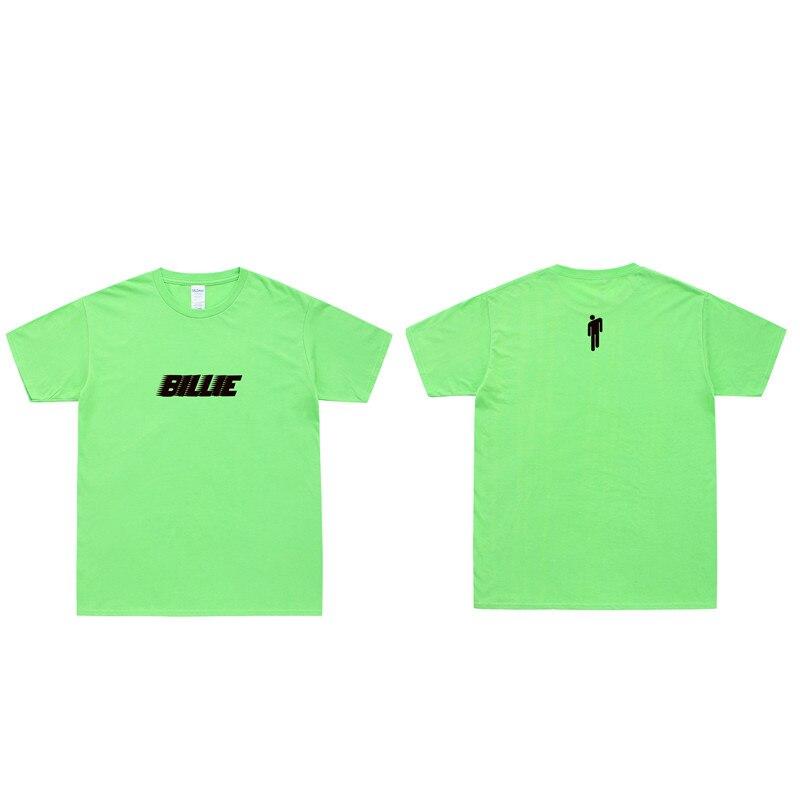 Billie Eilish Men T Shirt Women Harajuku Pastel Colors Letters Summer Tops Full Cotton Short Sleeve Streetwear Punk Tee Shirts