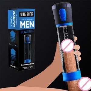 Image 2 - Bomba peniana de pene macho, bomba de pene para agrandar el pene, extensor de pene, dispositivo de bomba de vacío, consolador, masturbador, Juguetes sexuales para adultos para hombres