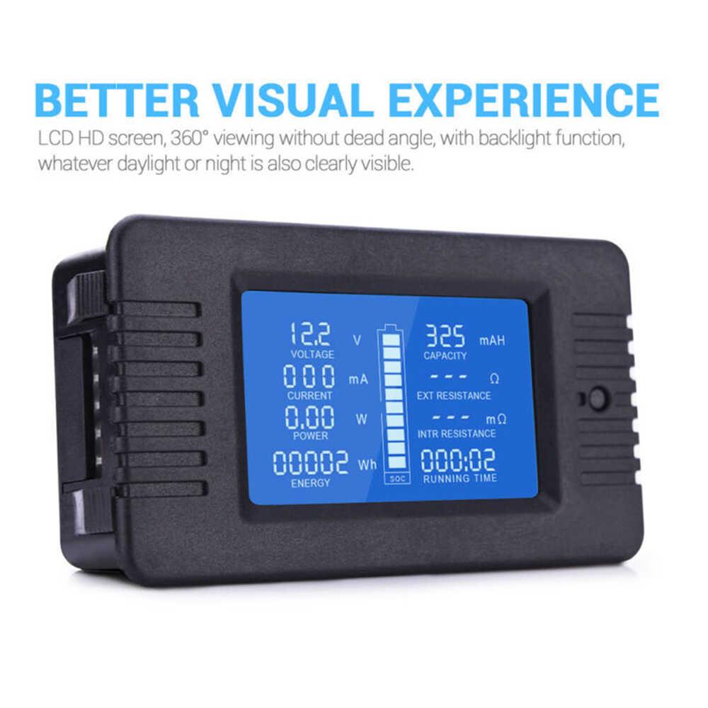 Pantalla LCD Voltaje de corriente digital Medidor de energ/ía solar Mult/ímetro Amper/ímetro Volt/ímetro Batt-ery Monitor Medidor