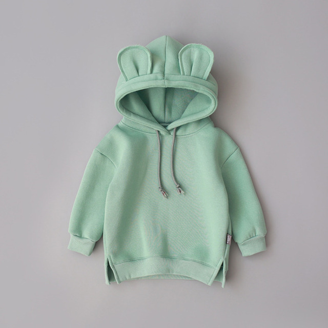 New Spring Autumn Baby Boys Girls Clothes Cotton Hooded Sweatshirt 5
