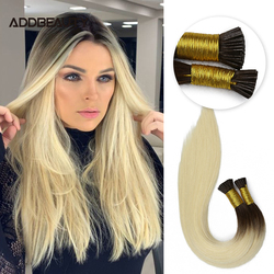 Straight I Tip Fusion Hair Keratin Capsules Brazilian Raw Virgin Human Hair Extension High Quality Thick End Ombre Dark Color