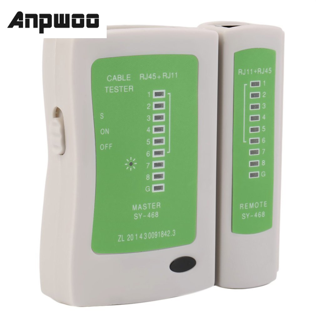 ANPWOO Professional Network Cable Tester RJ45 RJ11 RJ12 CAT5 UTP LAN Cable Tester Detector Remote Test Tools Networking