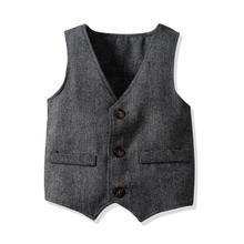Boys Clothes Suit Vest Wedding Party Clothing Toddler Kids Costume Boys Formal W