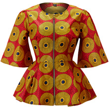 Африканская одежда для женщин Анкара рубашка с принтом африканская традиционная одежда женский Африканский Топ Тонкий Модный Африканский женский топ