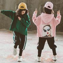 Teenage Girls Clothing Fall Casual Tracksuit Children Girl Hooded Sweatshirt+Pencil Foot Pants 2Pcs Set Kids Sport Suit 2019 New