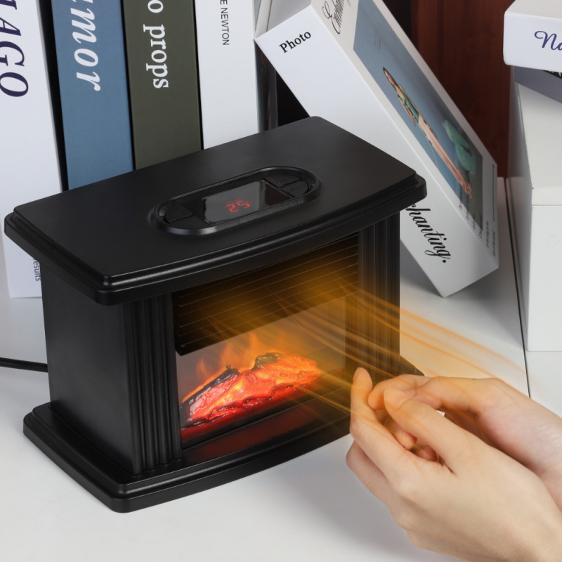 Simulation Flame Heating Portable Mantelpiece Room Office Home Heating Electric Fireplace Heater Tabletop Warmer