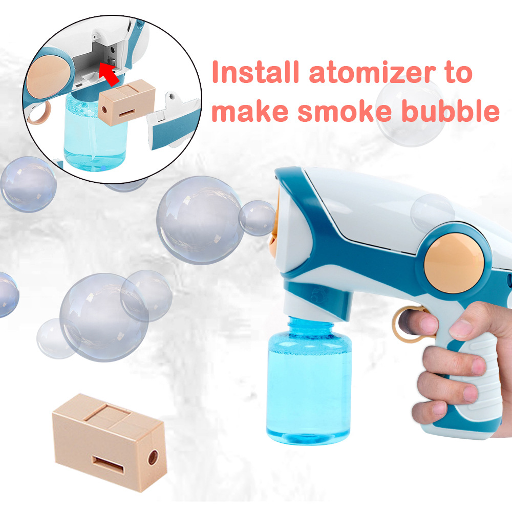 Kids Outdoor Toys Smoke Magic Bubble Machine 2020 New Summer Electric Automatic Bubble Blower Maker Gun Birthday Gift