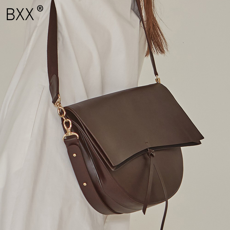 [BXX] 2020 Designer Women Bag Messenger Vintage Shoulder Bag Female Handbag Female Crossbody Bolsas Pu Leather Bags Tote HF270