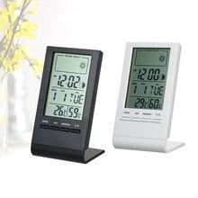 Мини-цифровой термометр-гигрометр для помещений, измеритель температуры и влажности, часы, метеостанция, предсказание, максимальное минимальное значение, дисплей