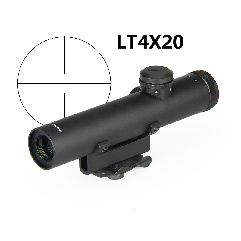 PPT Rifle Scope Optics 4x22 AR .223 5.56 Carry Handle Compact Riflescope ShockProof Electro GunSight gs1-0006 image