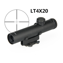 PPT Rifle Scope Optics 4x22 AR .223 5.56 Carry Handle Compact Riflescope ShockPr