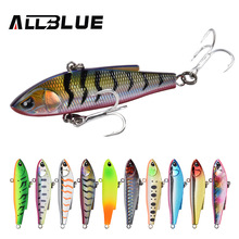 ALLBLUE New ANGRY JOHN VIB Sinking Fishing Lure Ice Jigging 58MM/70MM Hard Plastic Vibration Winter Bass Pike Artificial Tackle