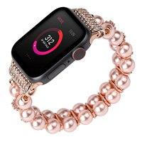 Bracciale per cinturino Apple Watch 38mm 40mm 42mm 44mm cinturino elastico per ragazze cinturino per gioielli cinturino per gioielli serie Iwatch 5/4/3/2/1