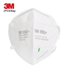 3M 2Pcs 9502 + KN95 חלקיקי הנשמה מגן מסכות בטיחות מסכת PM2.5 ערפיח אובך Dustproof ראש רכוב חיצוני להגן על