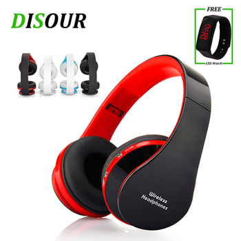 DISOUR Folding Wireless Headphone With Mic Kids Children Bluetooth Earphone Stereo Bass Headsets For PC MP3 iPad All Smart Phone