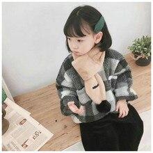 Korean Solid Plush Ball Warm Autumn Winter Thick Kids Children Boys Girls Cross Rings Shawls Scarves Accessories-LHC