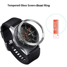 Stainless Steel Bezel Ring Cover For Samsung Gear S3 Classic Fontier Galaxy Watch 46mm With Tempered